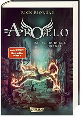 Teil 1 von 5 der Abenteuer des Apollo Reihe von Rick Riordan.