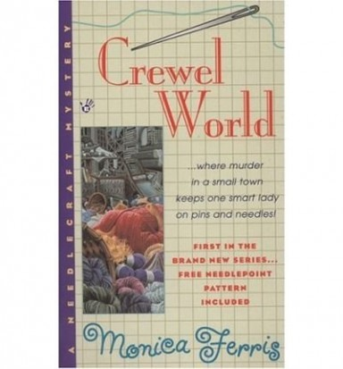 Band 1 von 19 der Needlecraft Mysteries Reihe von Monica Ferris.