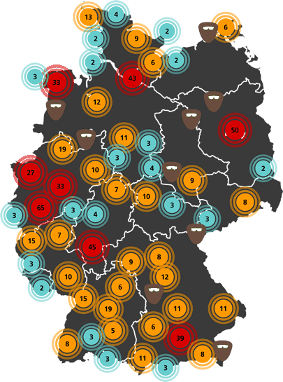 Die Karte der regionalen Ermittler(teams)